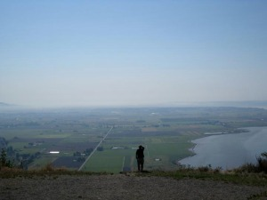 Bud Anderson looking over Skagit Valley