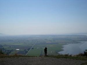 Bud Anderson looking over Skagit Valley