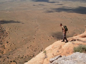 Eddie Feltes overlooks the Kaibab Plateau